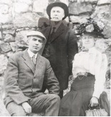 Mary B. Isaacs with husband W.C. Isaacs and friend C.W. Hammond in 1902