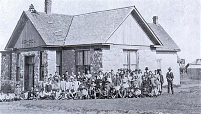 Early Classes at The Rock School in Canadian Texas