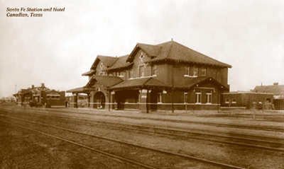 Santa Fe Station and The Harvey Hotel Canadian Texas